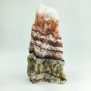 RED BANDED CALCITE DISPLAY PIECE